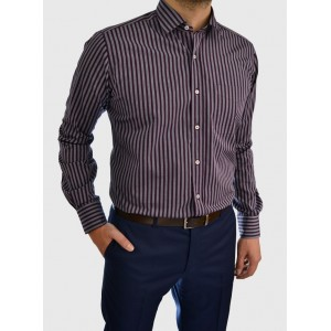 Striped business shirt business regular fit Q638-MB