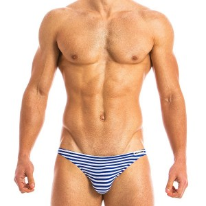 Men's low cut brief white MV 10812_blue / S18
