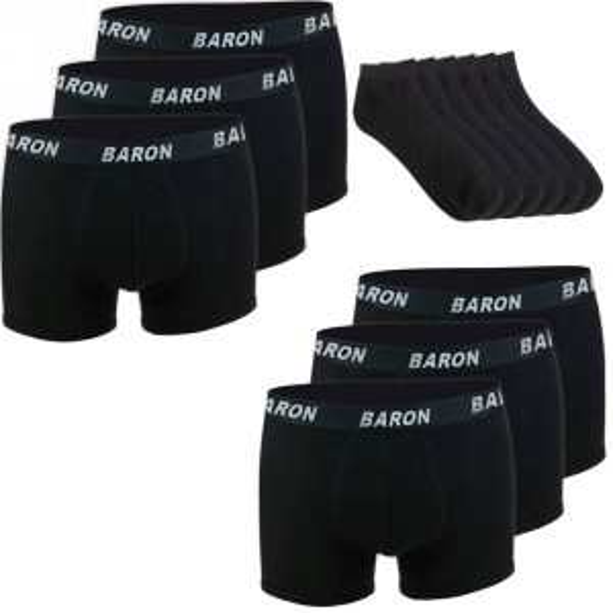 6 Boxers & 6 socks Black EM018-1601X2