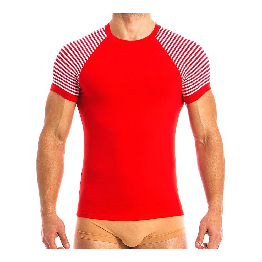 Ανδρικό t-shirt κόκκινο MV 10841_red / S18