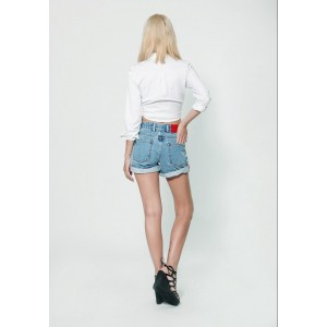 Women denim Short  Mom 708
