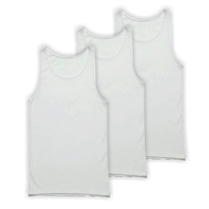 Men's tanktop 3 Pack white 1970W-3pack