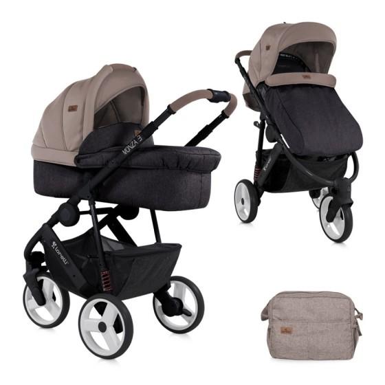 Baby Stroller   MONZA 3 in1 Beige