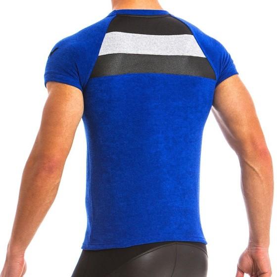 Ανδρικό t-shirt πετσετέ μπλέ 12841_blue