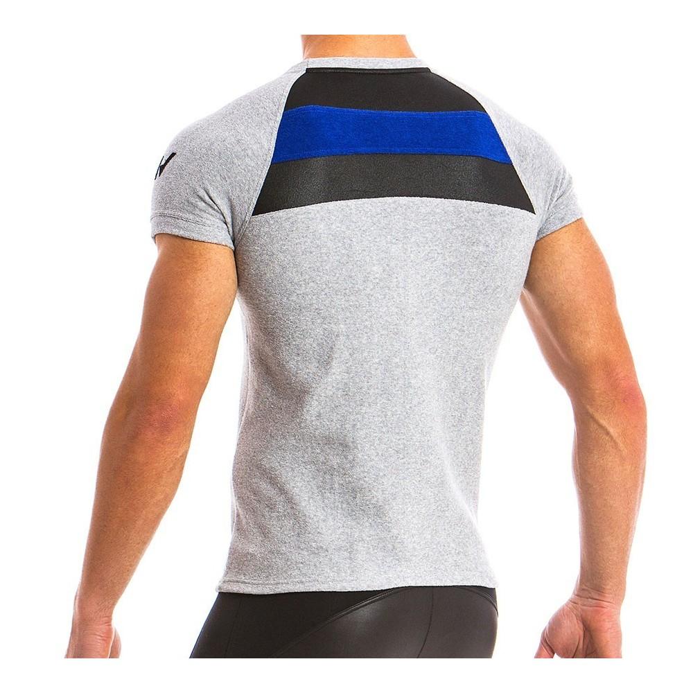 Ανδρικό t-shirt πετσετέ μπλέ 12841_grey