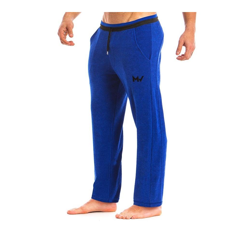 Ανδρικό πετσετέ παντελόνι μπλέ 12862_blue