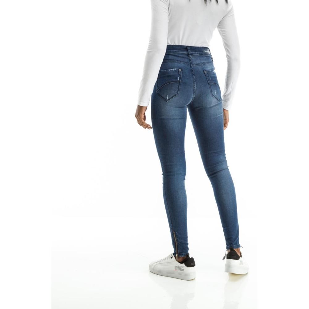 ac67c838738 Γυναικεία Τζίν Παντελόνια Γυναικεία ρούχα   Τζιν παντελόνι με ψηλό  καβάλο Fashion.gr