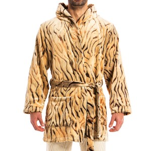 MEN'S ANIMAL PRINT ROBE