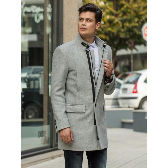 Ανδρικό παλτό γκρι