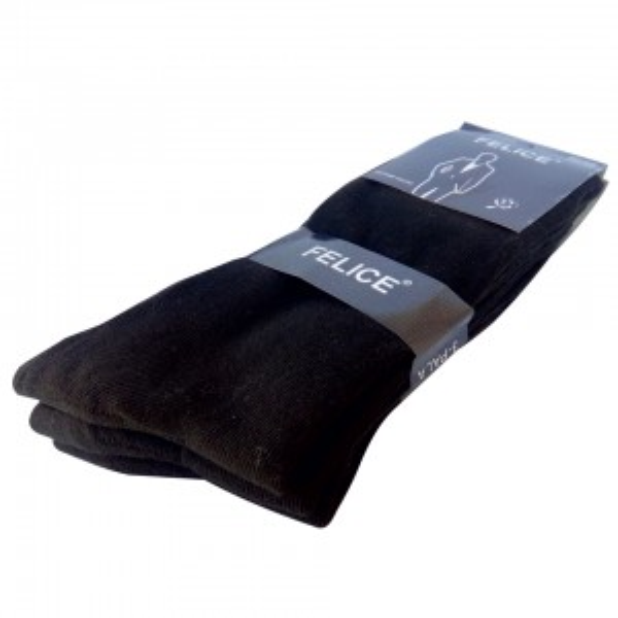 Σετ 3 τεμαχίων κάλτσα μερσεριζέ ανδρική μαύρο χρώμα