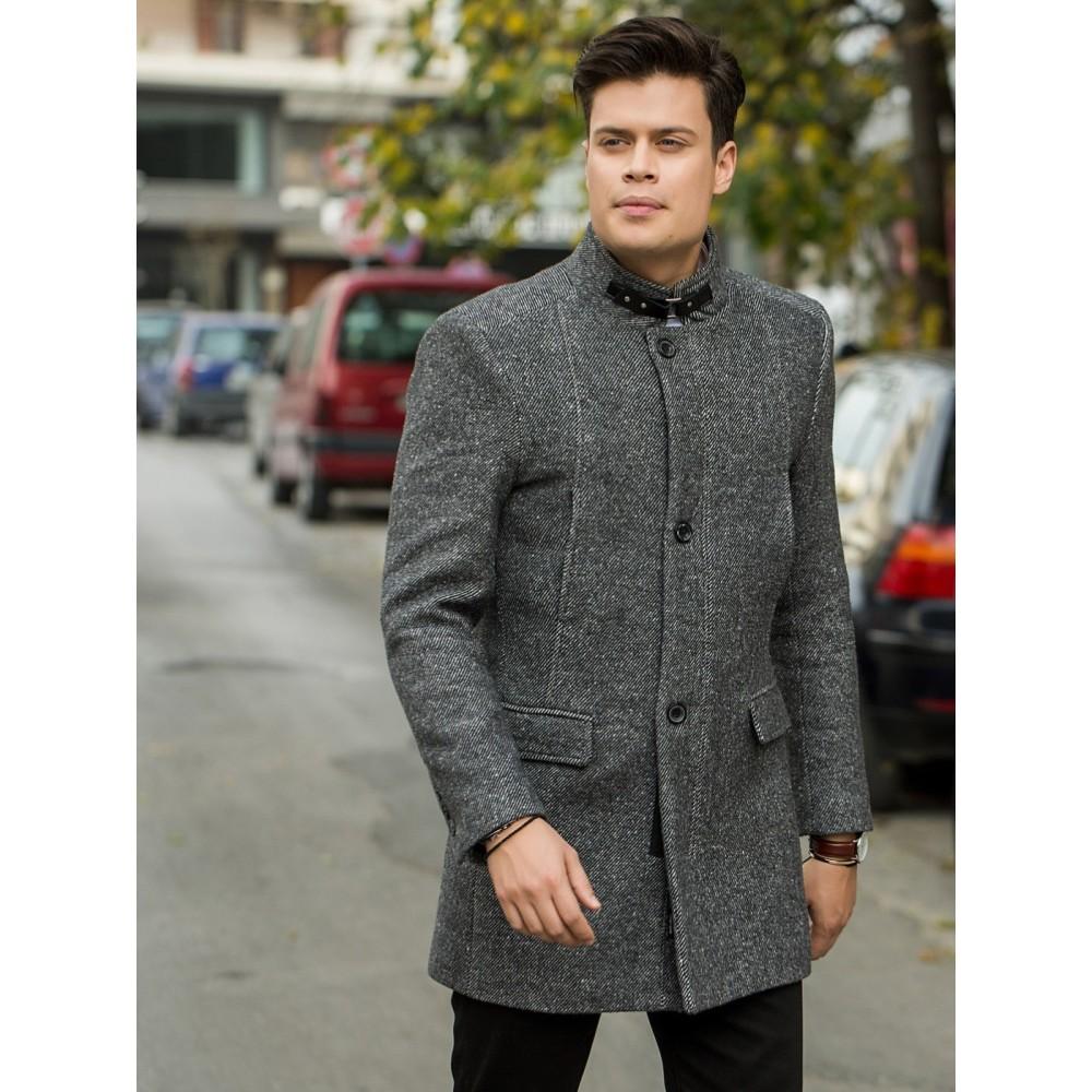 Ανδρικό παλτό ανθρακί
