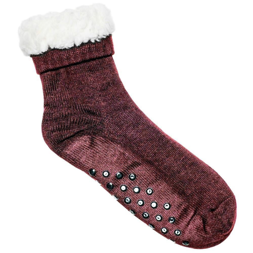 Κάλτσες ανδρικές επένδυση γούνα κεραμιδί