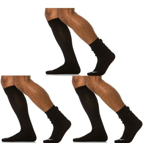 3 pack ανδρικές κάλτσες μακριές μαύρες