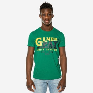 19012-209-01-GREEN ΑΝΔΡΙΚΟ T-SHIRT BROKERS GAMER PAY AUTHORITY
