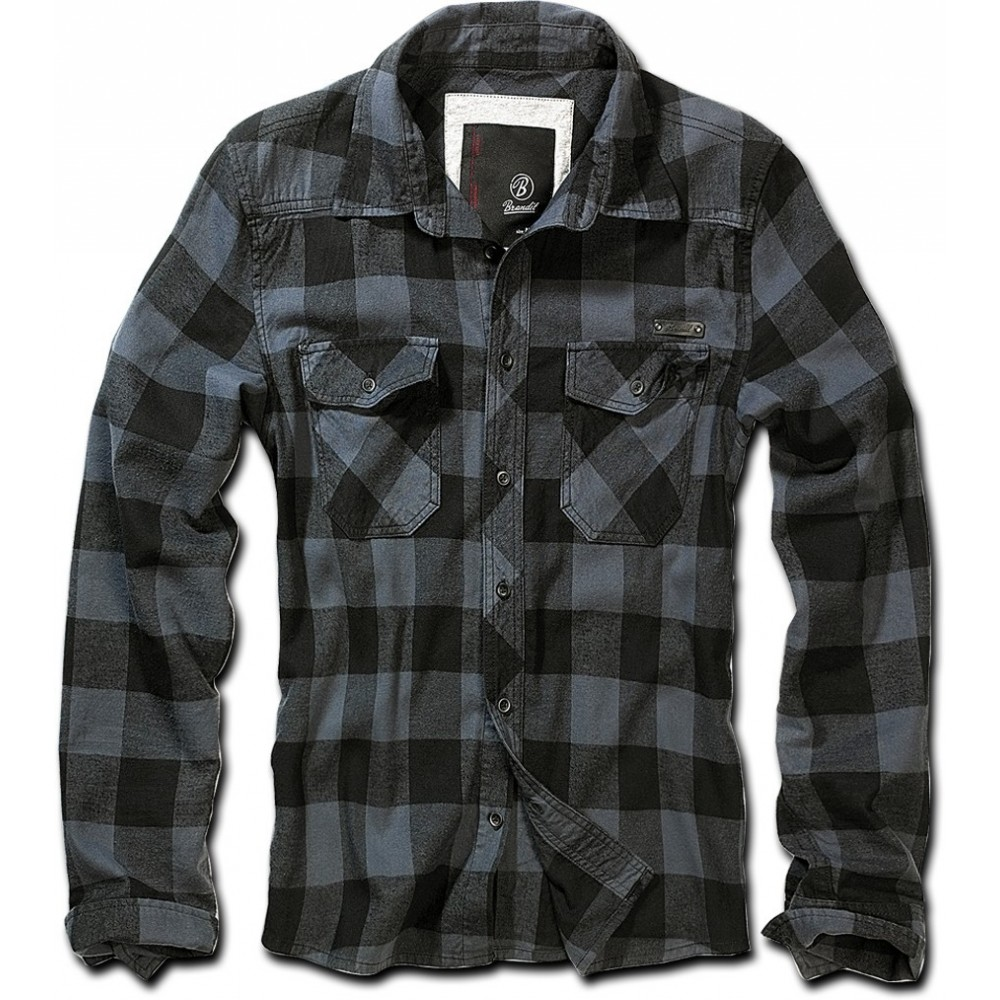 CHECKSHIRT BLACK-GREY
