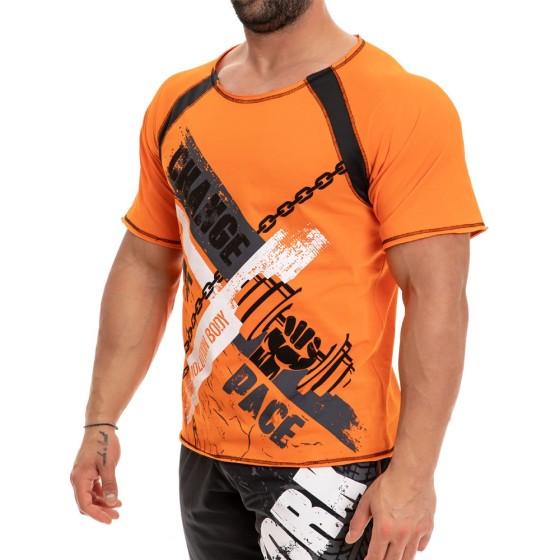 Κοντομάνικη Μπλούζα Evolution Body Πορτοκαλί 2247orange