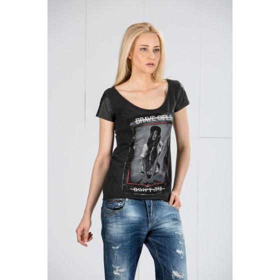 Κοντομανικη μπλουζα