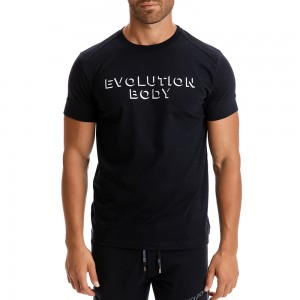 T-shirt Evolution Body Μαύρο 2303B