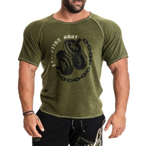 Κοντομάνικη μπλούζα Evolution Body Χακί 2275ΚΗ