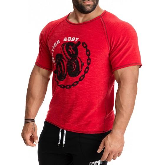 Κοντομάνικη μπλούζα Evolution Body Κόκκινη 2275R