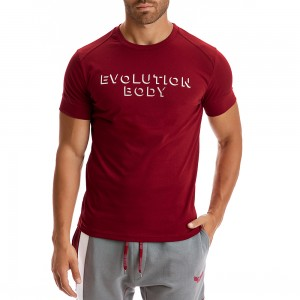 T-shirt Evolution Body Μπορντό 2303MP