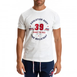 T-shirt Evolution Body Λευκό 2302