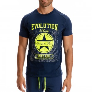 T-shirt Evolution Body Μπλε 2288BL