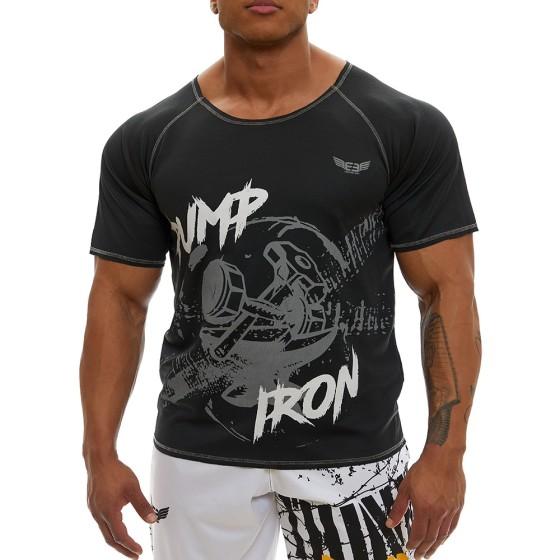 Κοντομάνικη μπλούζα Evolution Body Μαύρη 2366BLACK