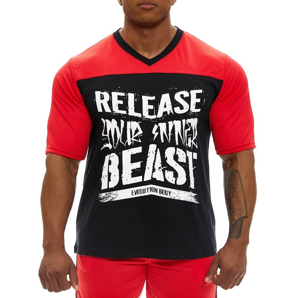 Κοντομάνικη μπλούζα Evolution Body Κόκκινη 2360RED