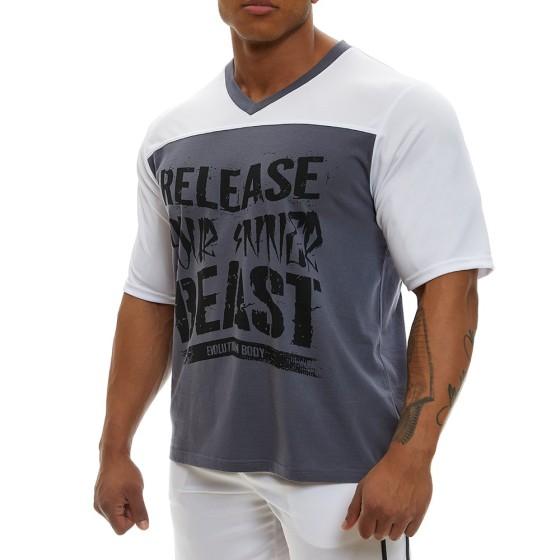 Κοντομάνικη μπλούζα Evolution Body Λευκό 2360WHITE