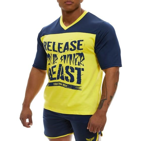 Κοντομάνικη μπλούζα Evolution Body Μπλε 2360BLUE