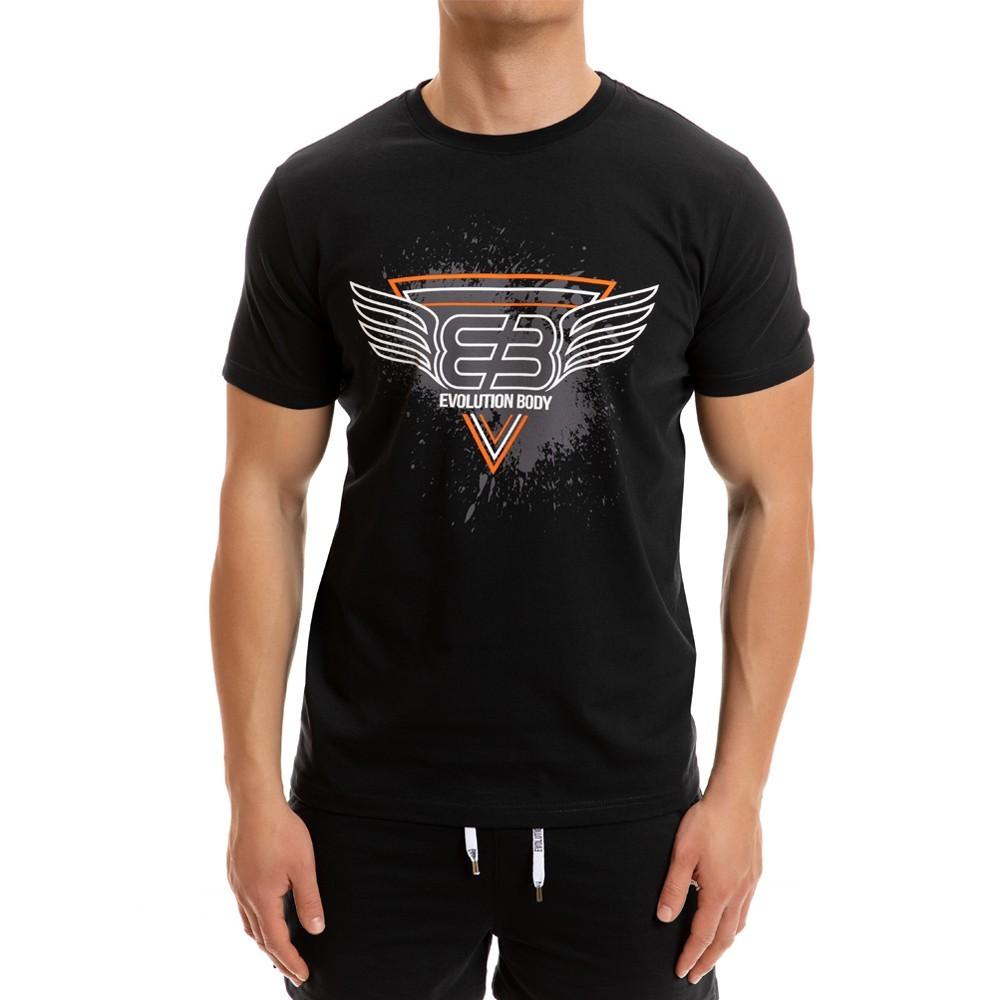 T-shirt Evolution Body Μαύρο 2267black
