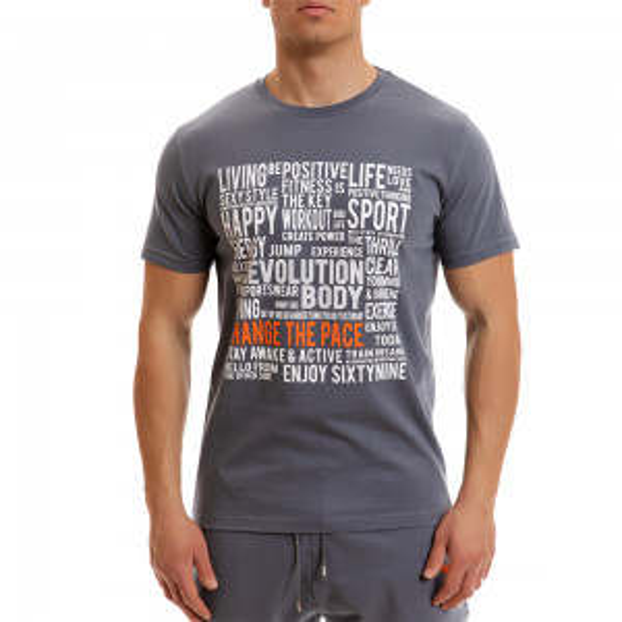 T-shirt Evolution Body Γκρι 2267grey