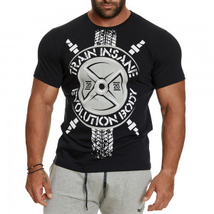 T-shirt Evolution Body Μαύρο 2404BLACK