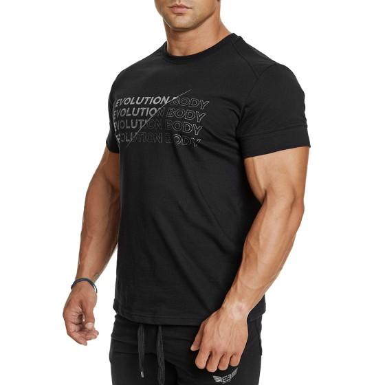 T-shirt Evolution Body Μαύρο 2386BLACK