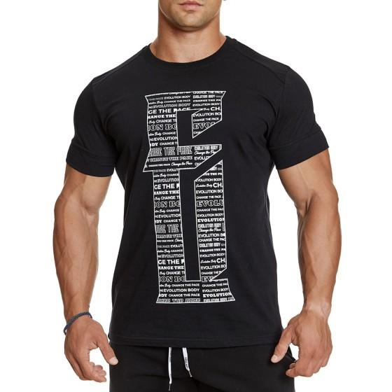 T-shirt Evolution Body Μαύρο 2380BLACK