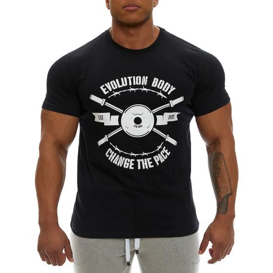 T-shirt Evolution Body Μαύρο 2355ABL