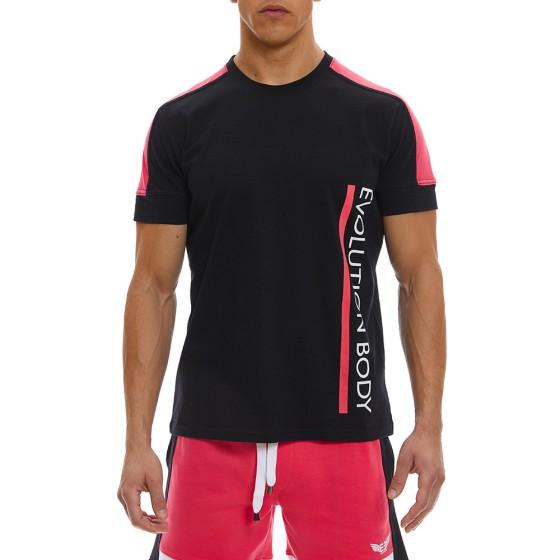 T-shirt Evolution Body Μαύρο 2369BL-FU