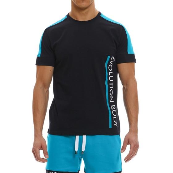 T-shirt Evolution Body Μαύρο 2369BL