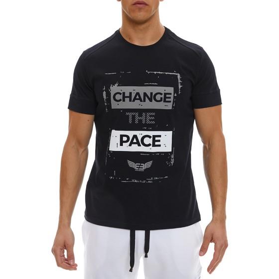 T-shirt Evolution Body Μαύρο 2338ABL