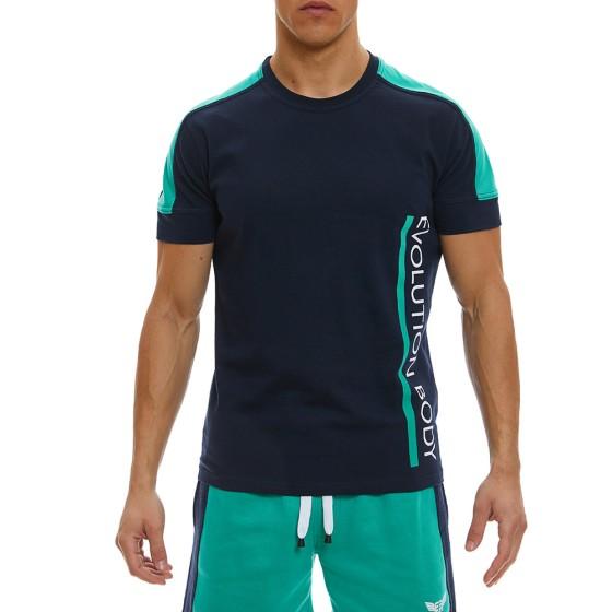 T-Shirt Evolution Body Μπλε 2369BLUE