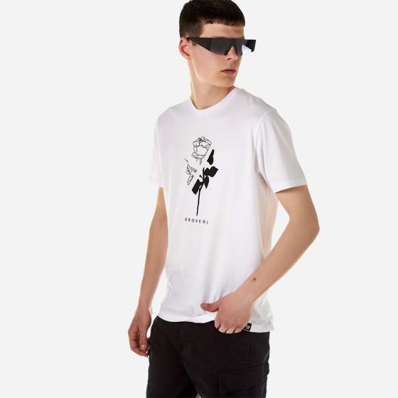 21012-212-01-WHITE ΑΝΔΡΙΚΟ T-SHIRT BROKERS