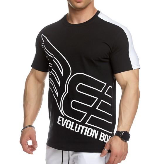 T-shirt Evolution Body Μαύρο 2446BLACK