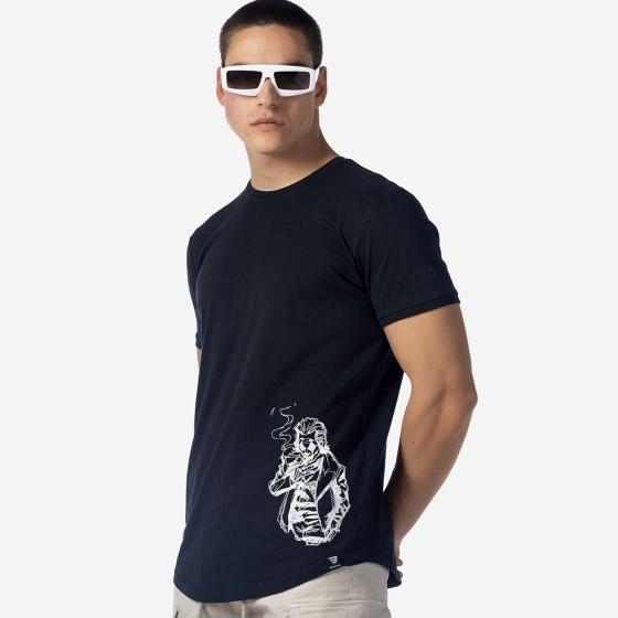 21012-345-01-BLACK ΑΝΔΡΙΚΟ T-SHIRT BROKERS