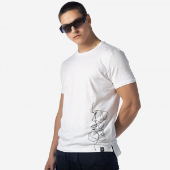 21012-341-01-WHITE ΑΝΔΡΙΚΟ T-SHIRT BROKERS