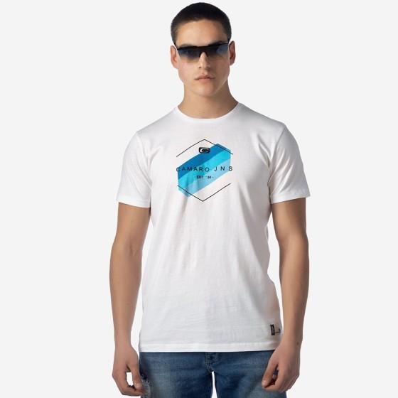 21001-920-01-WHITE ΑΝΔΡΙΚΟ T-SHIRT CAMARO