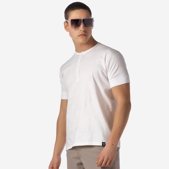 21012-201-01-WHITE ΑΝΔΡΙΚΟ T-SHIRT BROKERS