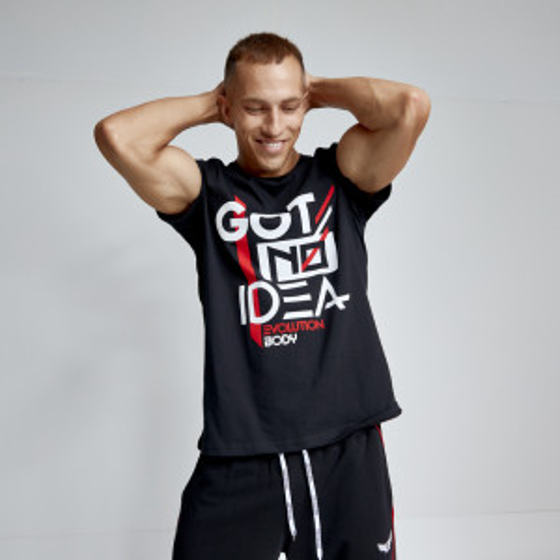 T-shirt Evolution Body Μαύρο 2484BLACK