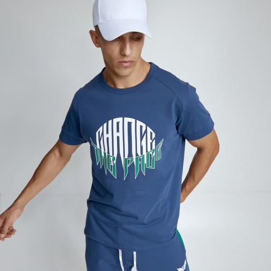 T-shirt Evolution Body Μπλε 2490BLUE
