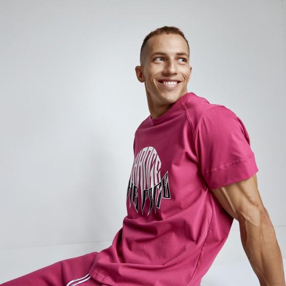 T-shirt Evolution Body Μπορντό 2490BORDO